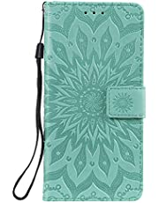 NEXCURIO Nokia 3.1Plus Wallet Case with Card Holder Folding Kickstand Magnetic Leather Case Shockproof Flip Cover for Nokia 3.1 Plus - NEKTU020285 Green