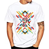 Clearance ! Yang-Yi 2018 Fashion Men Spring Printing Tees Shirt Short Sleeve T-Shirt