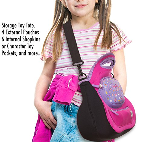 Felix and Wise and ShopaFun Washable Neoprene Tote Bag for (Color A Pony Purse)