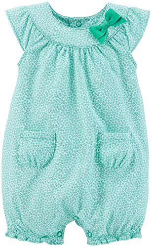 Carter's Baby Girls' Print Bubble Romper (Baby) - Turquoise - 3 Months