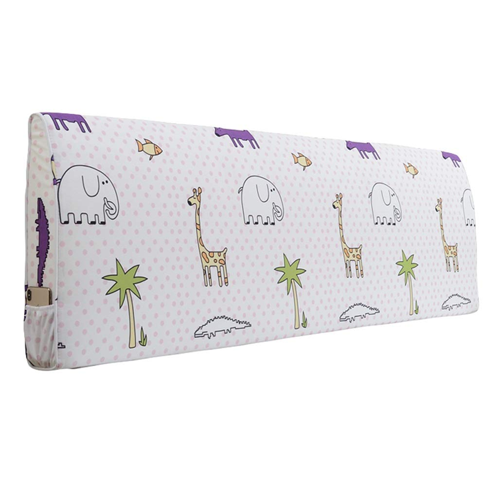 BZXLKD01 Large Backrest Pillow Fabric Headboard Cushion Print, 6 Colors, 8 Sizes (Color : Xiao Huang, Size : 160x50cm) by BZXLKD01