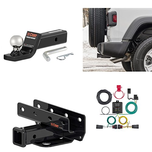 CME USA Class 3 Tow Hitch Receiver Package 2018-2019 Jeep Wrangler ()