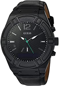 GUESS Men's Stainless Steel Connect Smart Watch - Amazon Alexa, iOS and Android Compatible iOS and Android Compatible