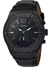 Men's Stainless Steel Connect Smart Watch - Amazon Alexa, iOS and Android Compatible, Color Black (Model: C0001G5)
