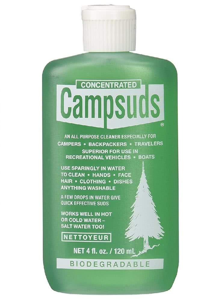 Sierra Dawn Campsuds Outdoor Soap Biodegradable Environmentally Safe All Purpose Cleaner, Camping Hiking Backpacking Travel Camp, Multipurpose Dishes Shower Hand Shampoo (4-Ounce, 12 Bottles)