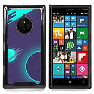 Ihec Tech Psychedelic Neon Espacio Galaxy;;;;;;;; / Funda Case back Cover guard / for Nokia Lumia 830