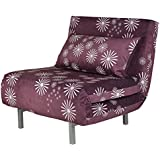 Cortesi Home CH-LC103600 Savion Convertible Accent Futon, Purple