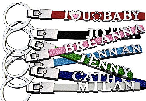 Personalized Key Chain, Name keychain, Custom Keychain with Metal letters(1-8 letters). (Personalized Keychain)