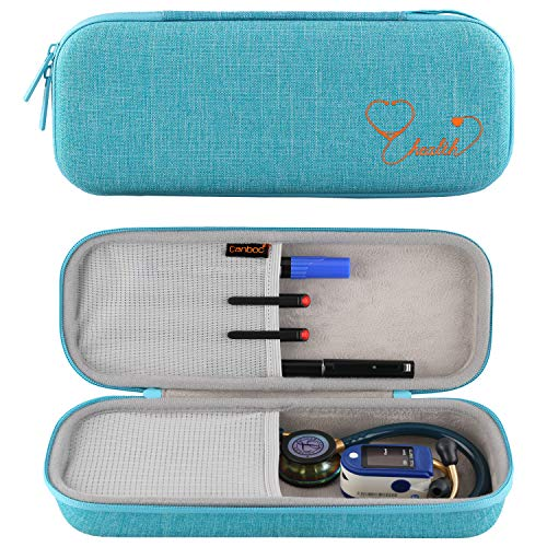 Canboc Stethoscope Carrying Case for 3M Littmann Classic III/Cardiology IV Stethoscope - Extra Storage Taylor Percussion Reflex Hammer