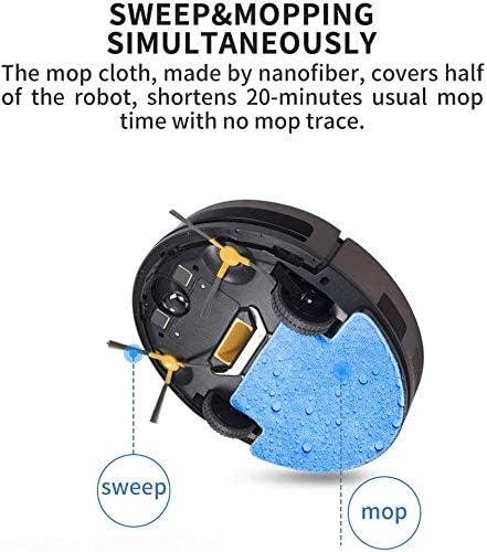 8bayfa Robot Aspirateur Balayage Vadrouille for Plan étage de contrôle APP Navigation prévu Charge Automatique Robot 1800PA