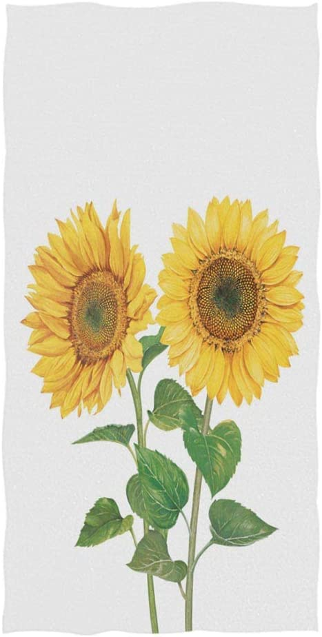 Amazon Com Wamika Watercolor Sunflowers Hand Towels 30x15 Inch Summer Autumn Poppy Bath Bathroom Towel Multipurpose Towels Highly Absorbent For Bath Hand Face Gym Spa Home Kitchen