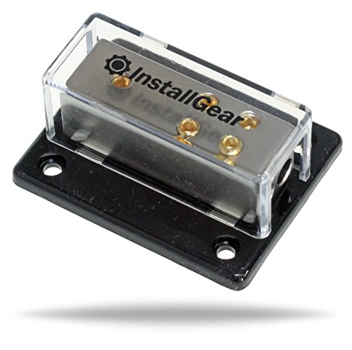 InstallGear 4/8/10 AWG Gauge Power Distribution Block 4 Gauge In to 8/10 Gauge Out