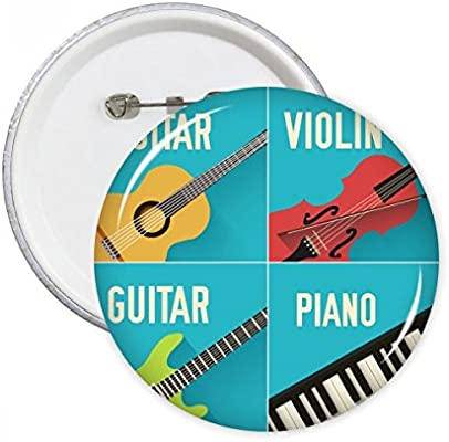 DIYthinker Regalo Guitarra Violín Piano Combinación Modelo redondo ...