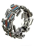 Modernist Collection: Pewter Stacks Stretch Bracelet