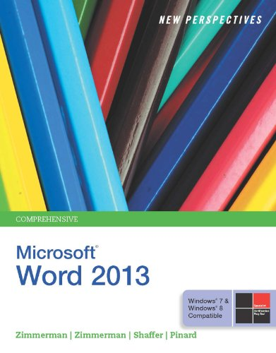 New Perspectives on Microsoft Word 2013, Comprehensive Pdf