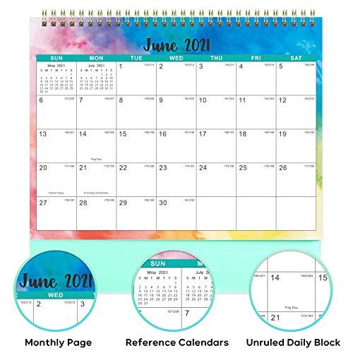 2022 Desktop Calendar.Desk Calendar 2021 2022 Standing Flip 2021 2022 Desktop Calendar With Thick Paper 9 8 X 8 3 Jan 2021 Jun 2022 Memo Pages Twin Wire Binding Large Unruled Blocks With Julian Date Watercolor Ink Pricepulse
