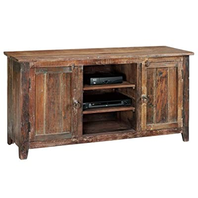 """Home Decorators Collection Holbrook Tv Stand, 58"""" W, RCLMED Natural - 30""""H x 58""""W x 18""""D. Fully assembled. Our No Hassle Return policy gives you peace of mind to enjoy the purchase in your home for up to 45 days. - tv-stands, living-room-furniture, living-room - 51RxYH2TgKL. SS400  -"""