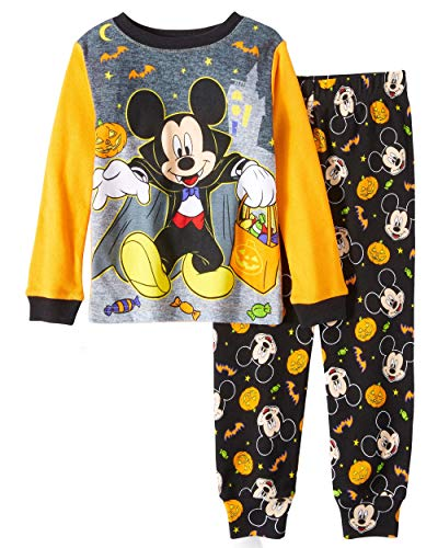 Disney Mickey Mouse Little Boys Toddler Halloween Pajama Set (2T) -