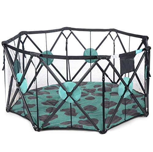 Read About Milliard X-Large 8 Panel Playpen Portable Playard with Cushioning for Safety, for Travel,...