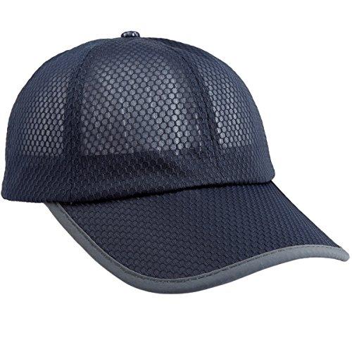 squaregarden Baseball Cap Hat,Running Golf Caps Sports Sun Hats Quick Dry Lightweight Ultra Thin,Navy Blue(Mesh Hat),One Size