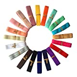 "Laribbons 5/8"" Fold Over Elastic Stretch Foldover FOE Elastics for Hair Ties Headbands ( 20 Colors by 1 Yard )"