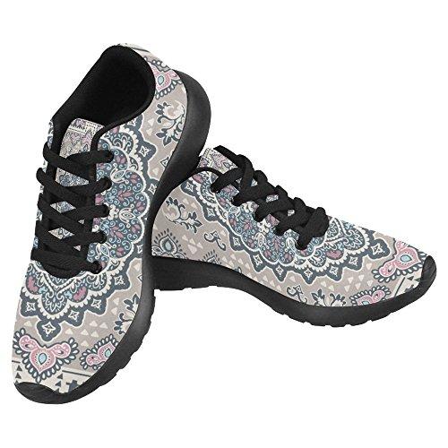 InterestPrint Womens Jogging Running Sneaker Lightweight Go Easy Walking Casual Comfort Running Shoes Vintage Turkish Rug Style Multi 1 gQcqLhA