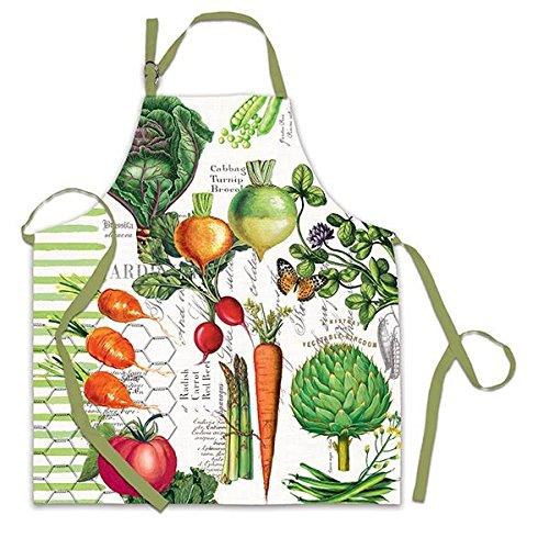 Michel Design Works Cotton Chef Apron, Vegetable - Design Vegetable