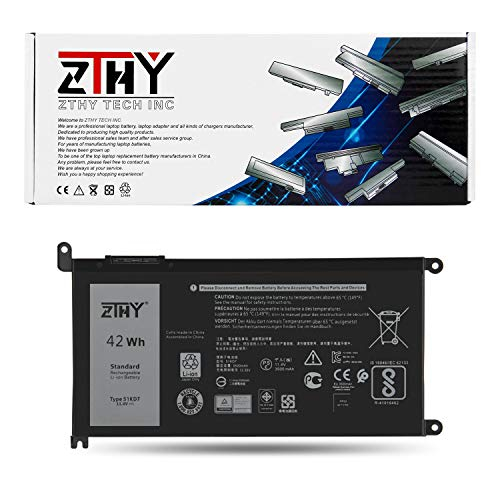 ZTHY 42Wh 51KD7 Laptop Battery Replacement for Dell Chromebook 11 3180 3189 5190 3181 2-in-1 Series Laptop P28T001 Y07HK FY8XM 0FY8XM 11.4V 3-Cell 3500mAh