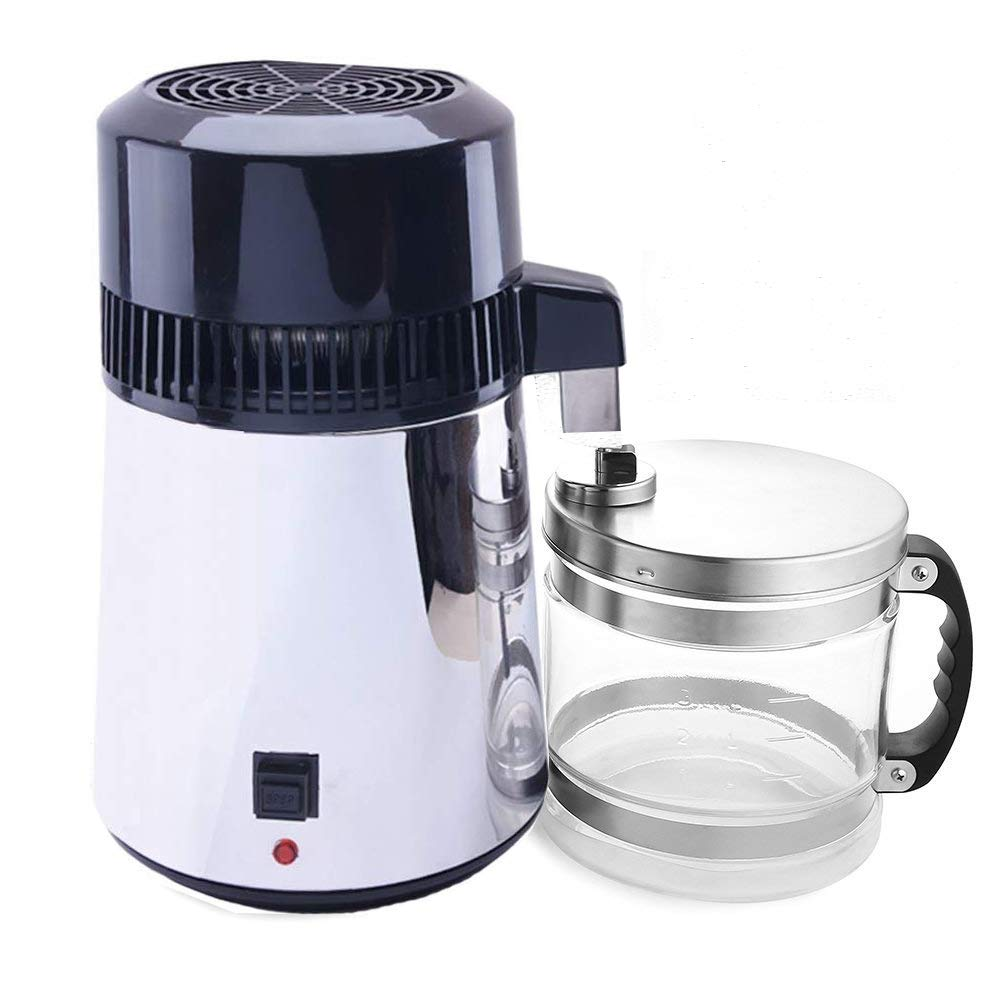 ECO LLC 4L 110V Stainless Steel Water Distiller Filter Purifier Boiler for Home&Lab