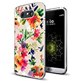 phone cases for a lg slide phone - LG G5 Case Floral,Gifun [Anti-Slide] and [Drop Protection] Clear Soft TPU Premium Flexible Protective Case For LG G5 - Abstract Classic Flowers Art Case