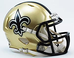 New Orleans Saints Riddell Revolution Speed Mini Football Helmet
