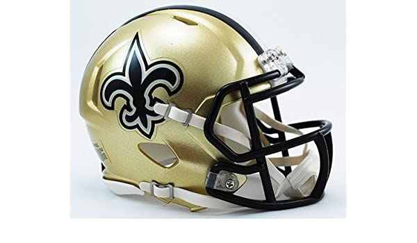 Amazon.com  New Orleans Saints Riddell Speed Mini Football Helmet - New in  Riddell Box  Sports Collectibles 06db21e52
