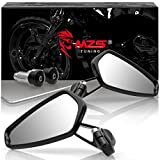 Best View Mirrors For Honda Motorcycles - MZS Motorcycle Bar End Mirrors Rear View CNC Review
