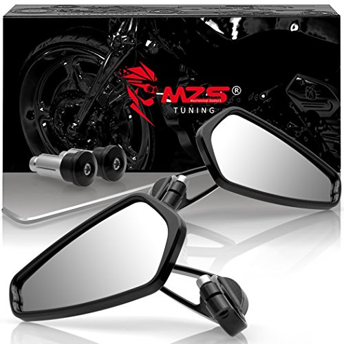 MZS Motorcycle Rear View CNC Bar End Mirrors for Honda GROM MSX125 CB500F/Kawasaki Z125 pro Z650 Z750 Z800 Z900 ER6N ER6F/Yamaha MT-03 MT-07 FZ-07 MT-09 FZ-09 MT-10 FZ-10 MT-25 FZ6 FZ8 FZ6R