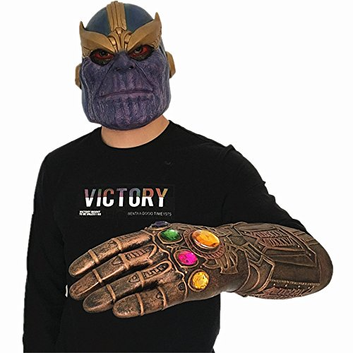 Thanos Latex Mask Gloves Toys Full Head Realistic