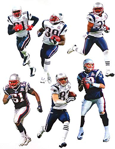 - New England Patriots FATHEAD Team Set of 6 Official NFL Vinyl Wall Graphics 17
