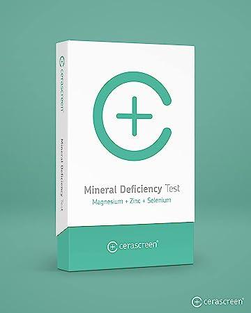 Kit para test de deficiencia de minerales de CERASCREEN - Prueba la deficiencia de zinc, selenio y magnesio de forma rápida y sencilla con un análisis ...