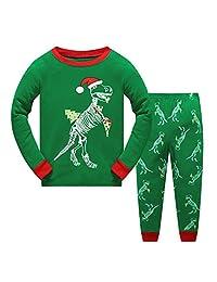 """Sweetbaby """"Dinosaur Baby Girls Boys Christmas Pajamas Sets"""