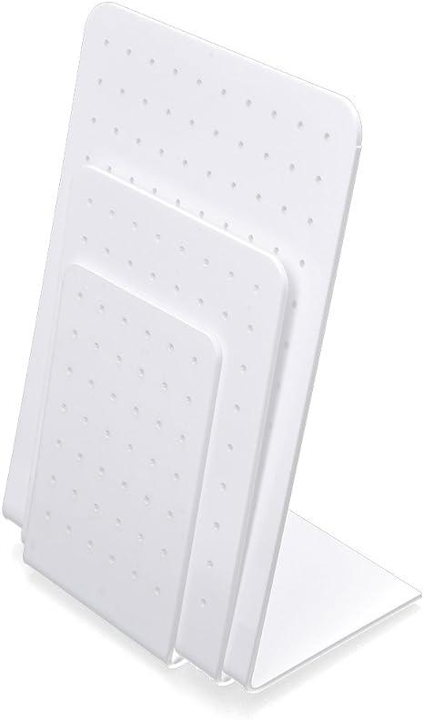 3,2 pouces R SODIAL Plastique blanc support Stand presentoir pour Boucles doreilles Support de bijoux Kit 5,3 pouces 3,9 pouces