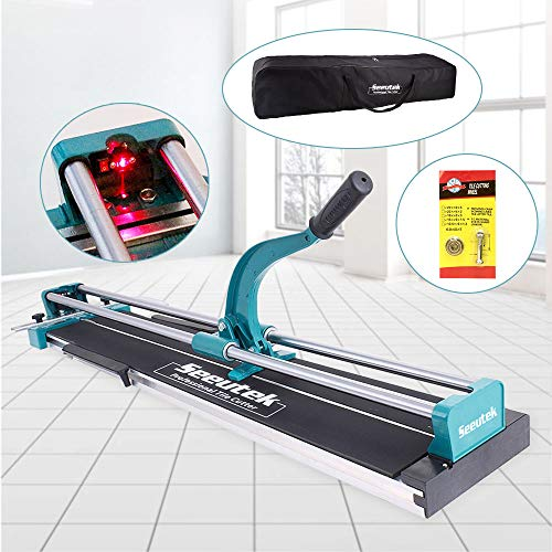 48 Inch Manual Tile Cutter Tools for Porcelain Ceramic Floor Tile Cutter W/Adjustable Laser Guide Bonus Spared Cutting Wheel & Storage Bag (Best Ceramic Tile Cutter)