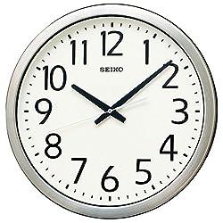 SEIKO CLOCK ( Seiko clock ) wall clock office type quartz moisture and dust type metal frame KH406S