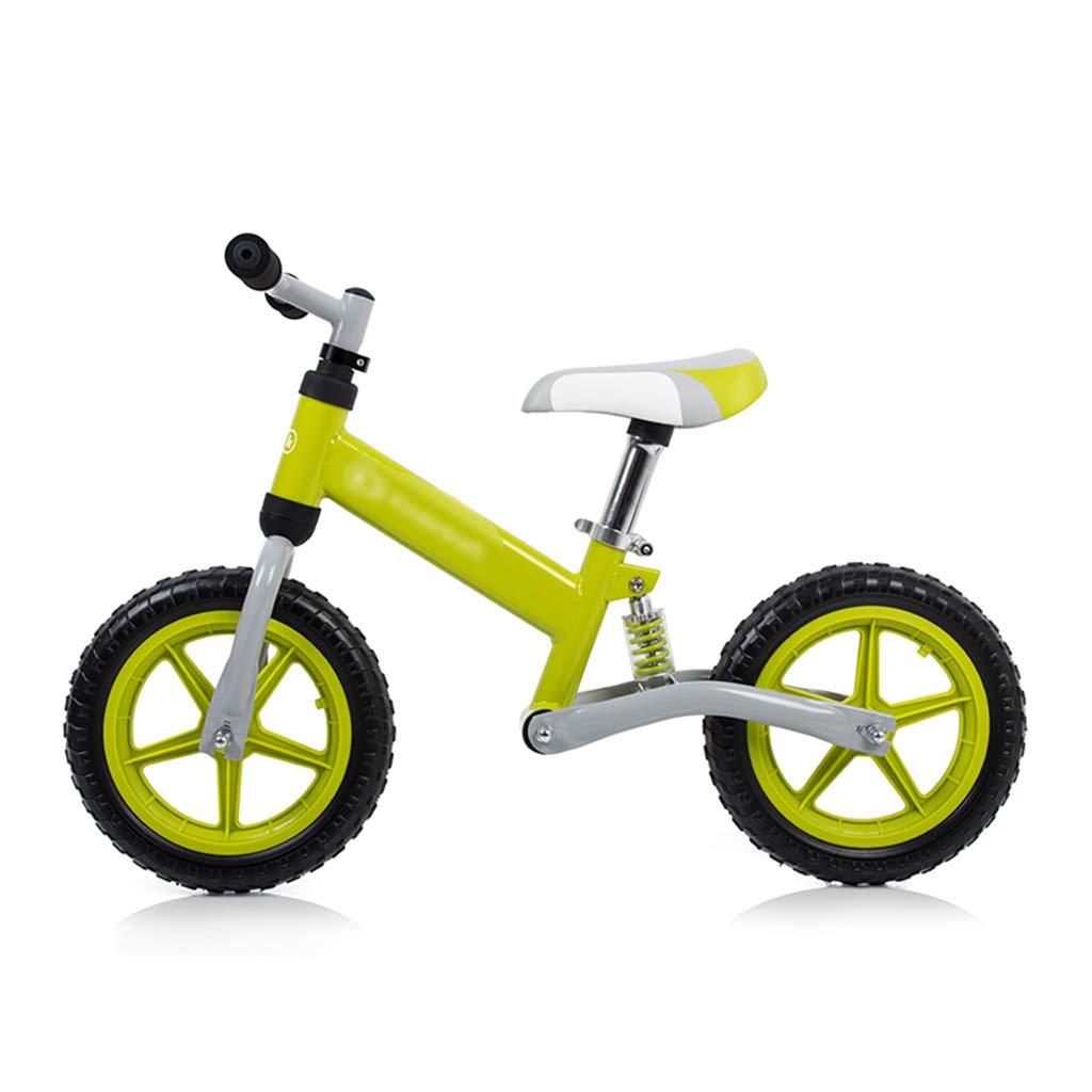 JianMeiHome Bicicletta per bambini Ammortizzatore bici bilanciato doppia ruota senza pedale 3-6 verde antico