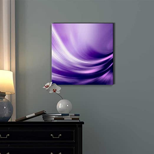 Electric Waving Purples | Purple Modern Wall art - Purple wall decor