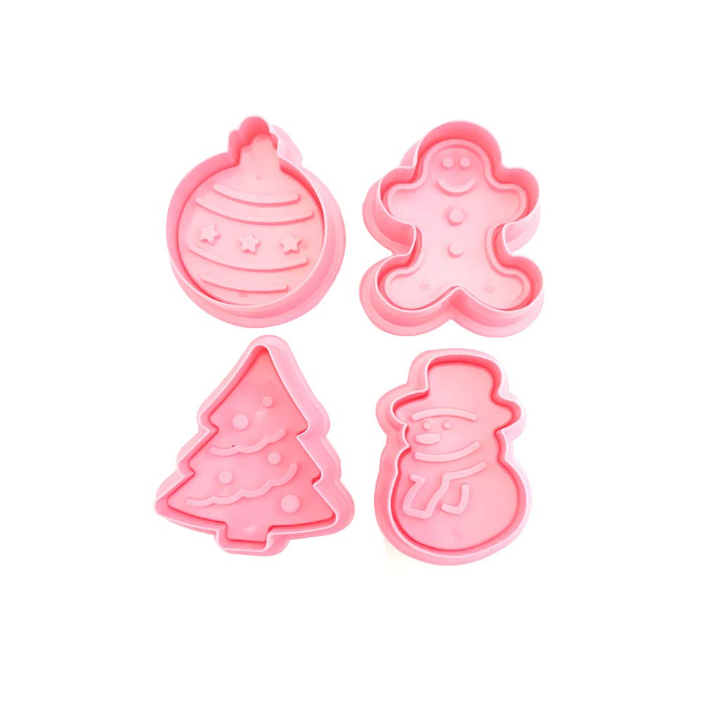 4Pcs/Set Christmas Tree Snowman Baking Mold Biscuit Cookie Cutter Cake Decor Fondant Mold Mould Baking