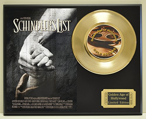 schindlers-list-limited-edition-gold-45-record-display-only-500-made-limited-quanities-free-us-shipp