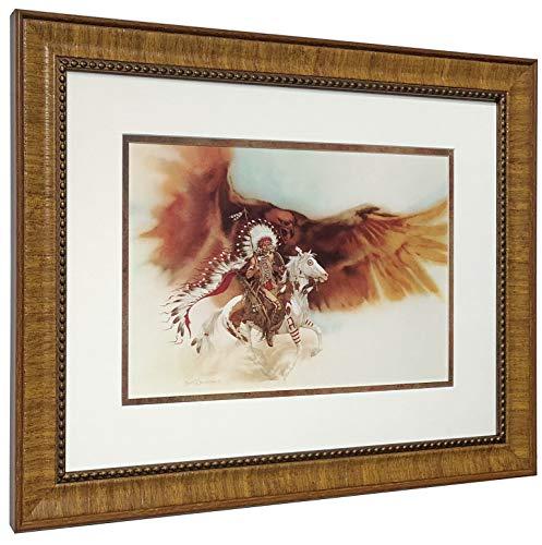Bev Doolittle Rushing WAR Eagle Matted & Framed Art Print from WSS