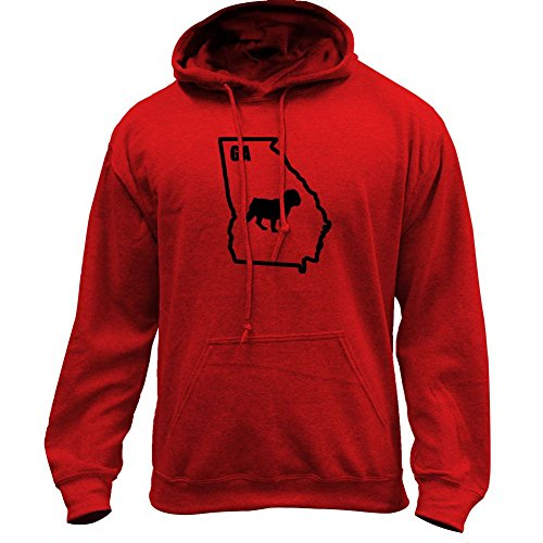 - Original I Bulldog Georgia Classic State Pullover Hoodie (X-Large, Red-Variant)