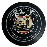 Bob Clarke Signed Philadelphia Flyers Official 50th Anniversary Puck JSA