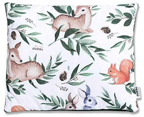 Matratze//Motiv: Mint Forrest Stillkissen JUKKI 5-tlg Baby Minky Erstausstattung set: Babynest 50x90cm Reisebett 2seitig 100/% Baumwolle Kissen Kuscheldecke Babydecke Nestchen f/ür Babys