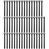 Pasow 50pcs Reusable Fastening Adjustable Cable Ties Wire Management (8 Inch, Black)